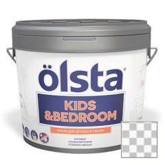 Краска интерьерная Olsta Kids and Bedroom Прозрачная 2,7 л