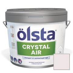 Краска интерьерная Olsta Crystal Air 135A White Lilla 0,9 л