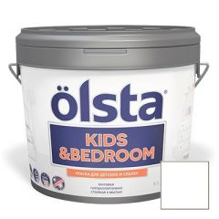 Краска интерьерная Olsta Kids and Bedroom Белая 9 л