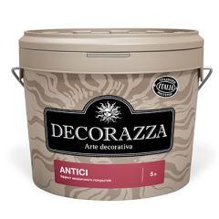 Декоративное покрытие Decorazza Antici с эффектом старинных стен черное 5 л