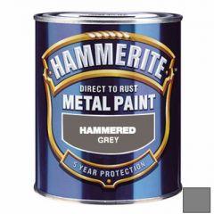 Эмаль по ржавчине Hammerite Hammered молотковая серая 2,5 л